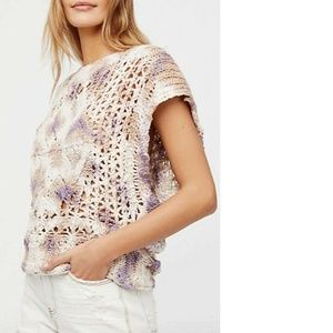 Free People Small Tie Dye Boho Relaxed Sweater NEW